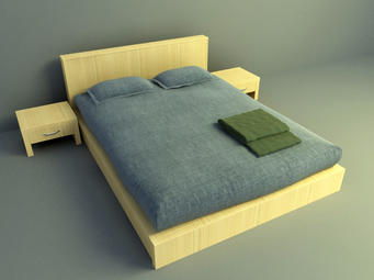 3d model bed free download, elegant design bed design