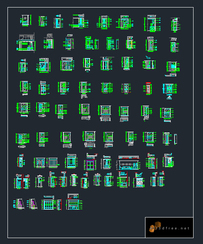 autocad blocks washing machince collection free download