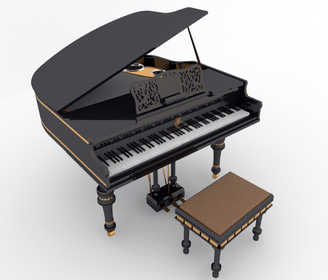 3D model Modern Piano free download