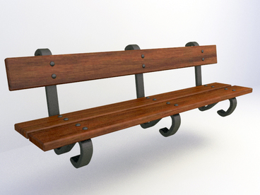 free 3D Model garden bench download