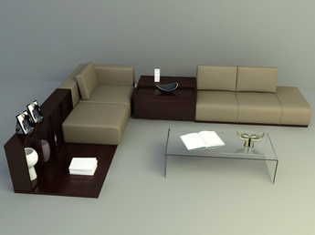 simple brown sofa set design