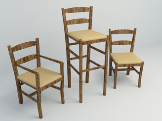 3d model bar chair free download