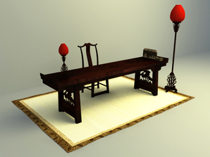 chinese classical working table design download