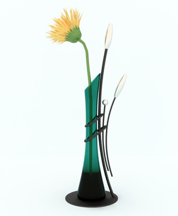 reading lamp with flower pattern design