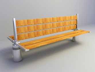 free 3D model outdoor bench download