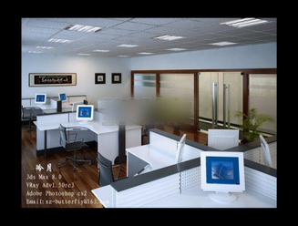 3d models scene general office room simple design download