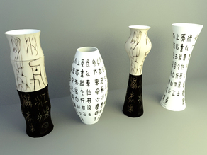 display decoration model , deco display design,chinese bottle decoration