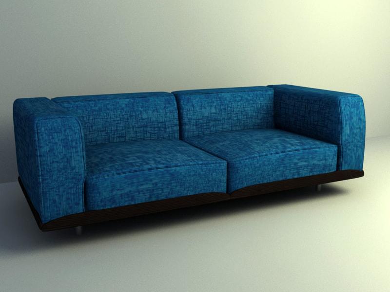 Classic Sofa Set 3d Model Free Download