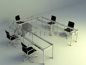 simple meeting table set design download