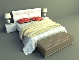 3d model bed download, elegant bed design