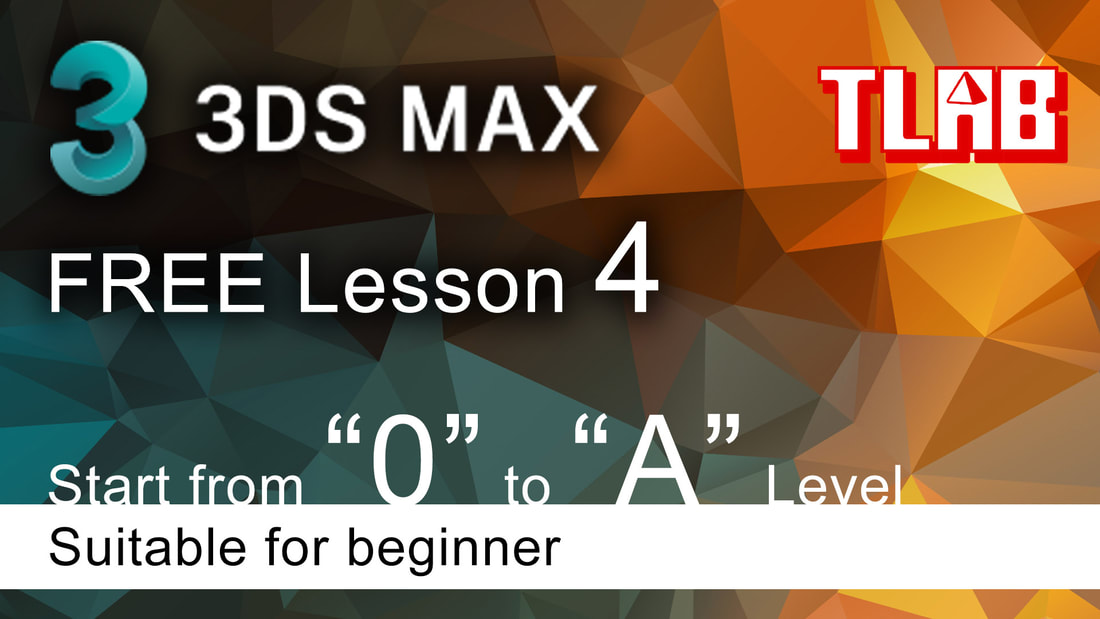 3ds max tutorial beginner - Extrude, edit spline, line object and vertex setting
