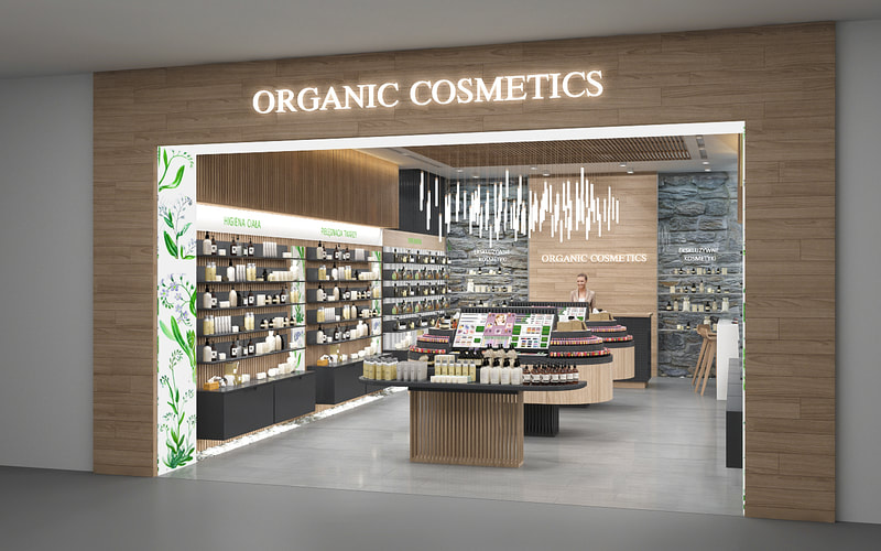 retail store for organic cosmetics