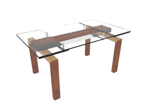 simple glass coffee table design
