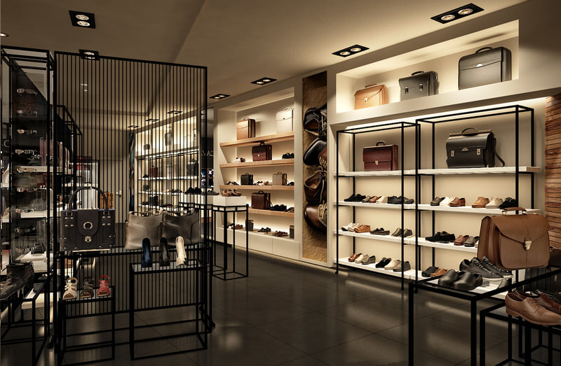 retail store interior design for sale clothes accessories   (C view)