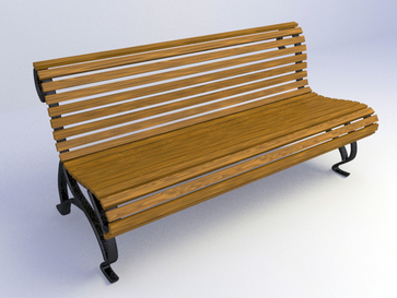 3d garden bench design free download