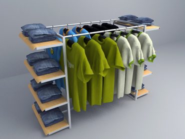 free 3D model Clothing racks 006