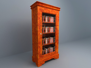 3D Model  Book High Cabinet free download
