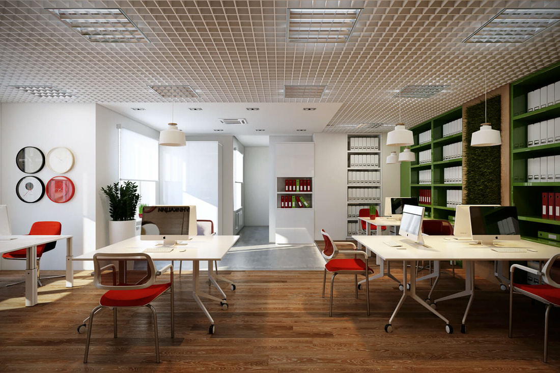simple general office space design