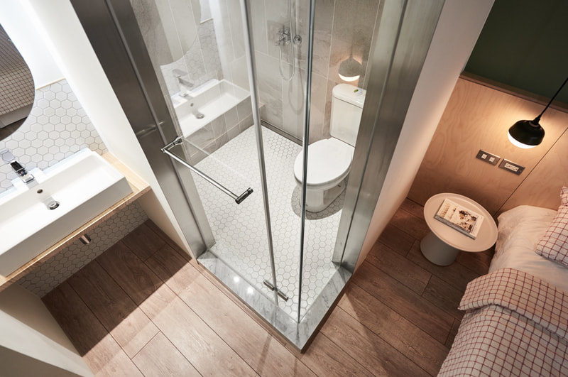 modern bathroom design with compartment type on all3dfree