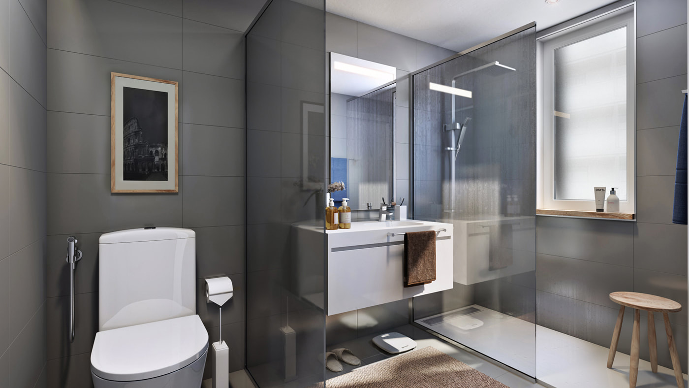 modern washroom concept on all3dfree