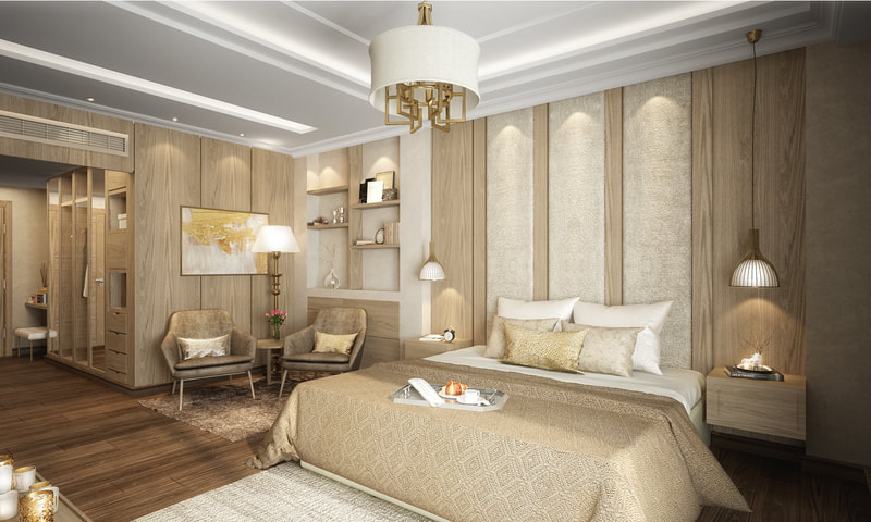 modern mix euro style bedroom design