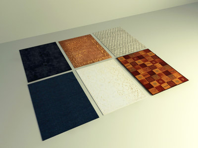 carpet 3d model free download collection 002