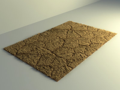 carpet 3d model free download - rug carpet 005