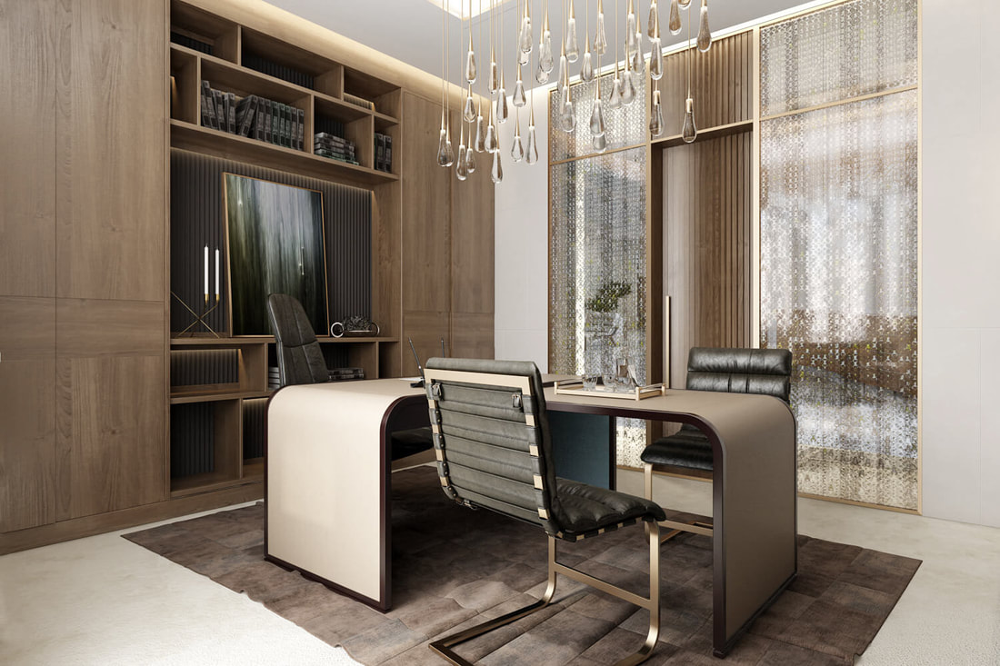 high class manager office room design A view