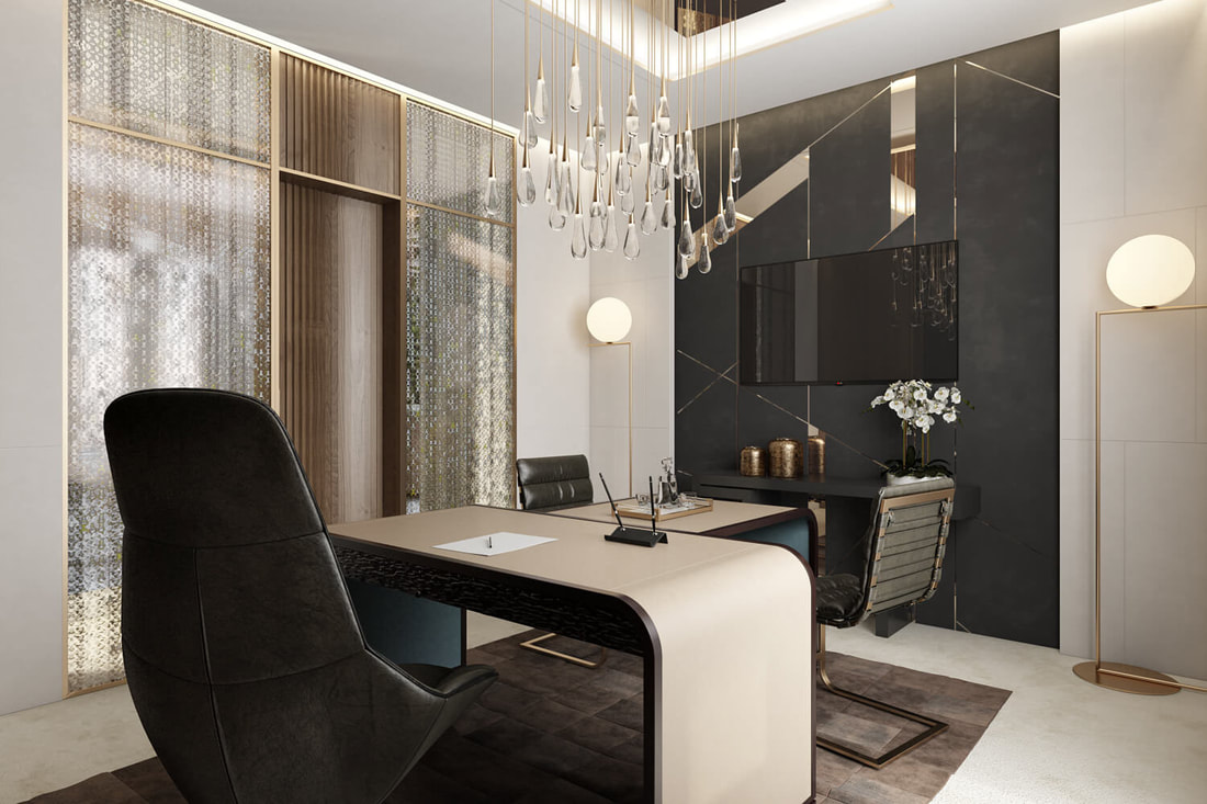 high class manager office room design  B view