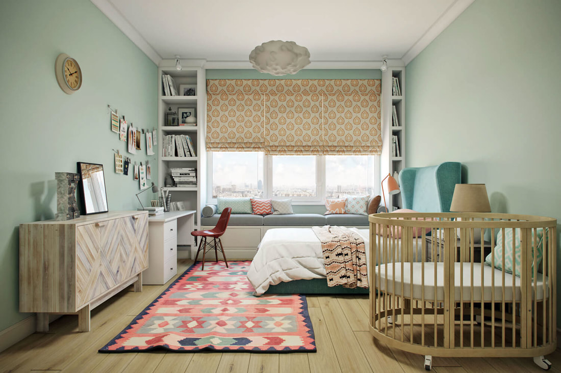 kid room with childlike concept design B view