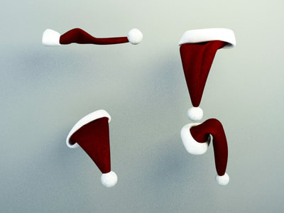 christmas decoration 3d model free download - christmas hat 014