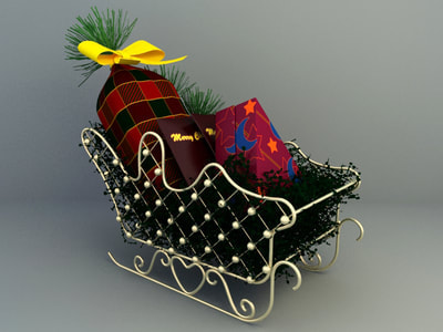 christmas decoration 3d model free download - gift collection 003