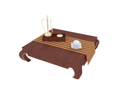coffee table 3d model free download  008