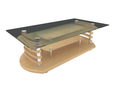 coffee table 3d model free download  010
