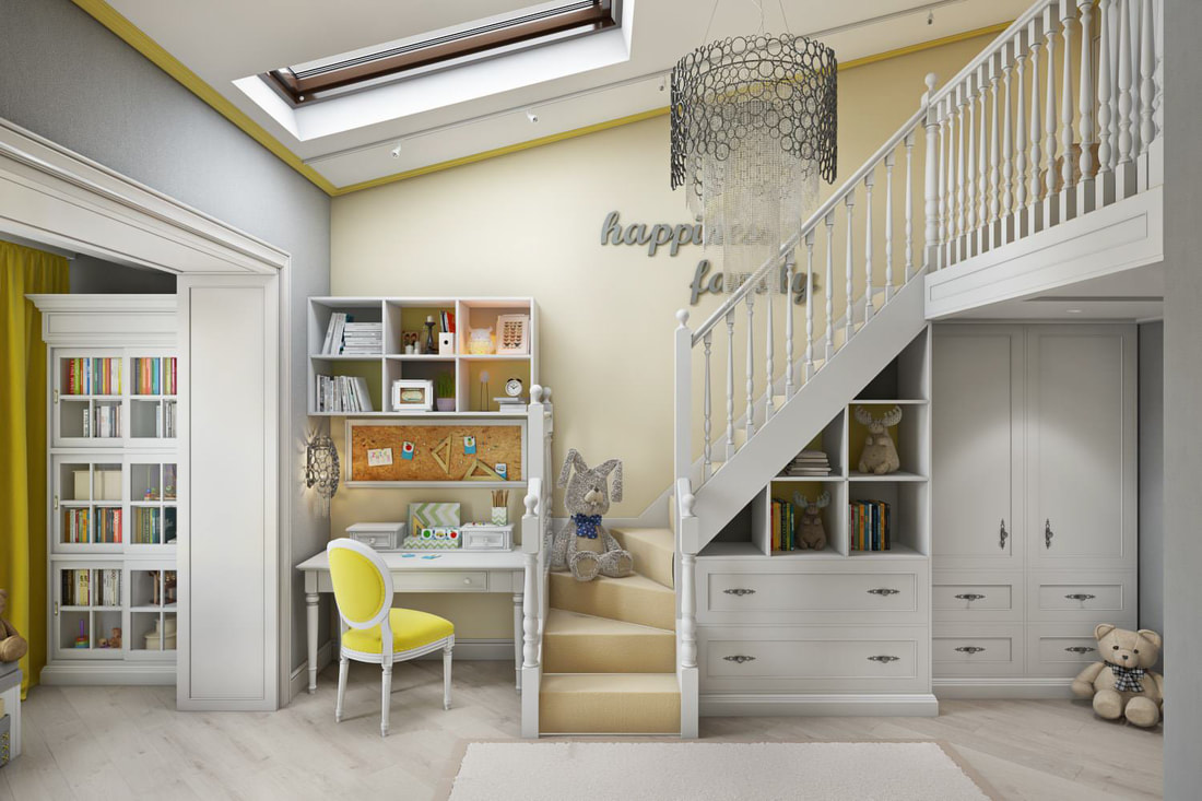 kid room with childlike design C view