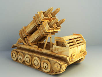 free 3d model Tank with wood paper materials