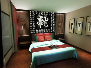 3d models scene hotel room chinese culture concept design 2018