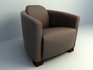 Club sofa chair 3d model free download
