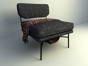 Lounge chair 3d moodel 2019