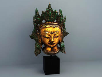 3d model of  Chinese sculpture