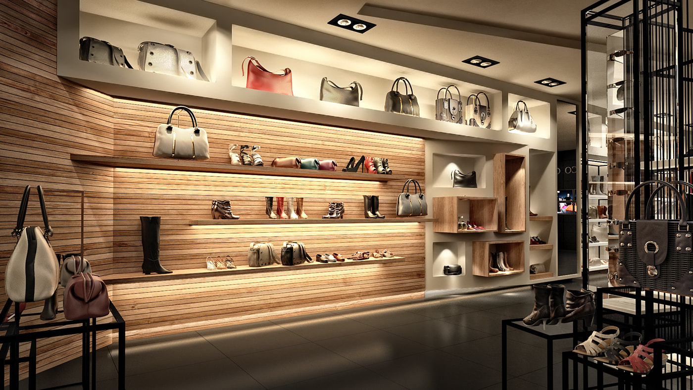 retail store interior design for sale clothes accessories   (D view)