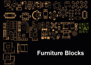 furnitures cad blocks - furniture cad block collection