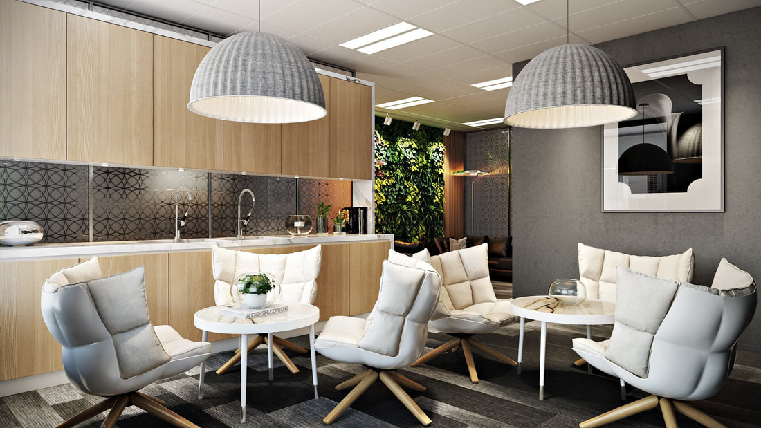 office recreation area with modern design