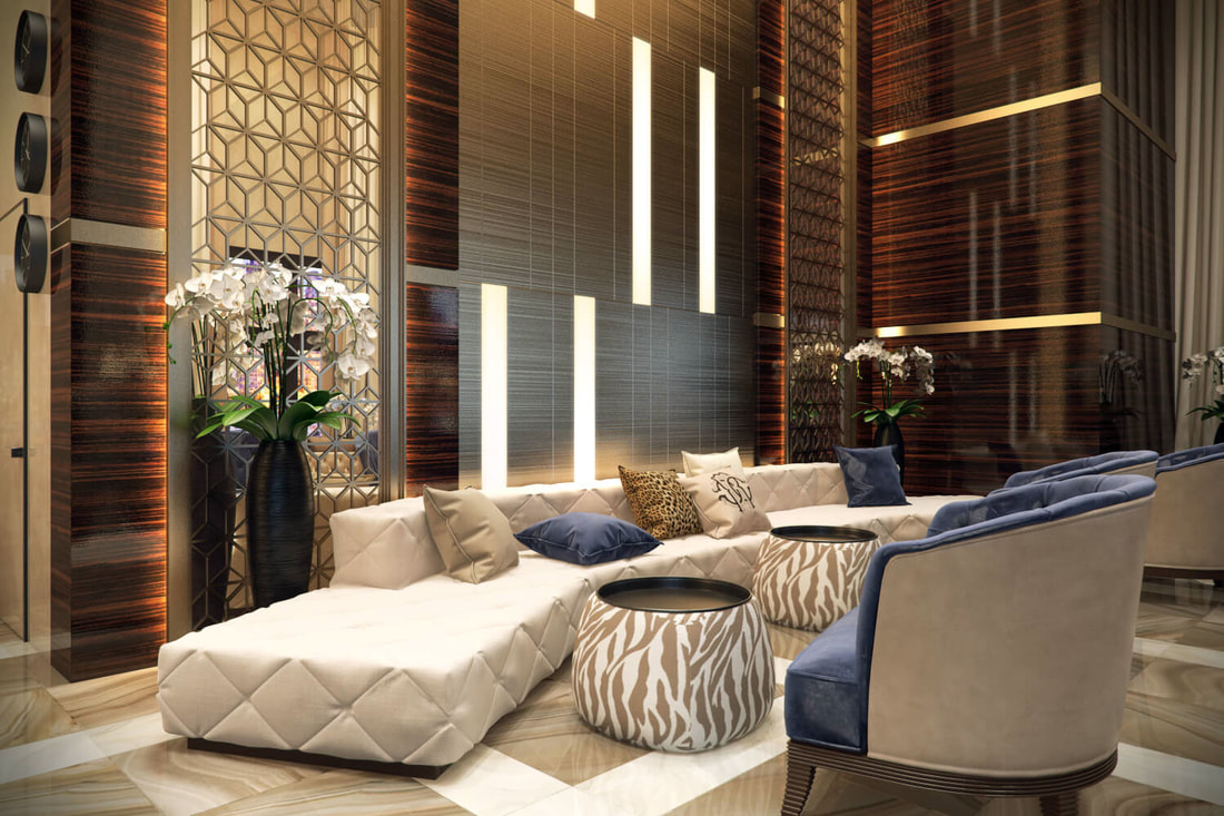 hotel lobby with modern look concept A view on all3dfree