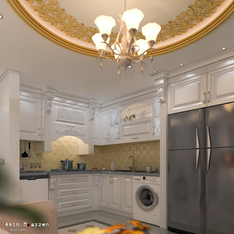 classic kitchen design on all3dfree