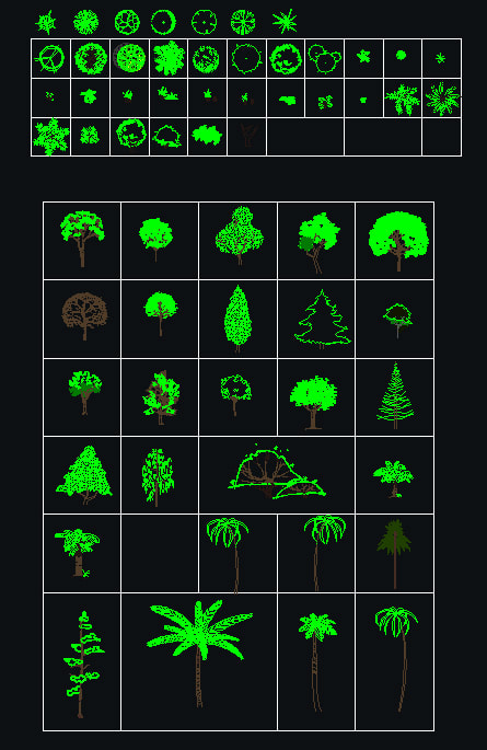Cad Blocks Collection Trees Amp Plants 02