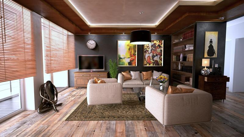 "living area design with ""brown texture"" concept"