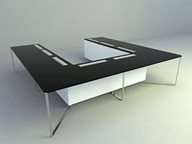 office table 3d model -Conference table 010