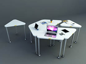 office table 3d model - Removable mini office desk 006
