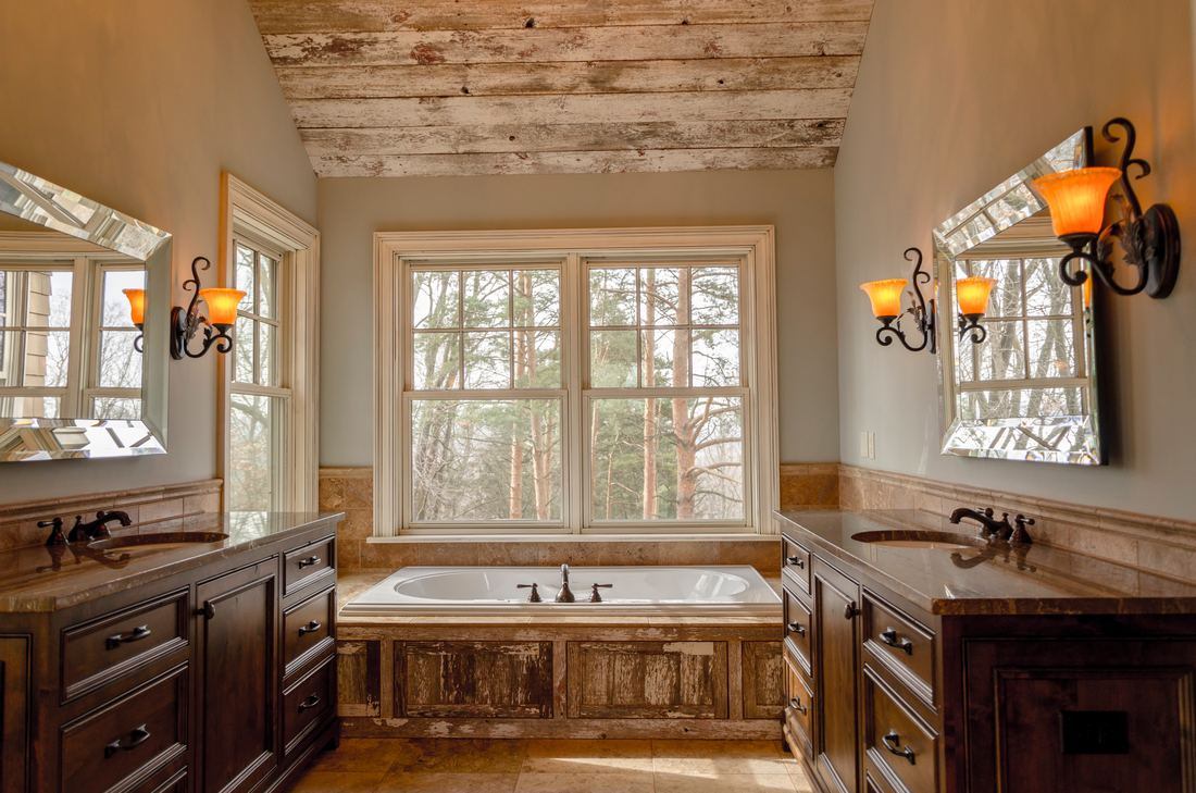 Classic french bathroom design with